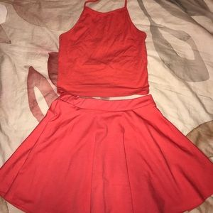 Forever21 crop top and skater skirt set